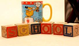 School Words Blocks Education concept design.  Stock Photography