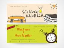 School world website banner or header. Stock Image