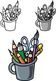 School writing items Royalty Free Stock Images