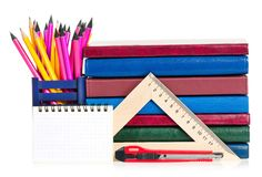 School writing-materials Stock Image