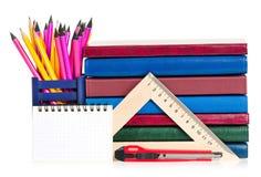 School writing-materials Stock Image