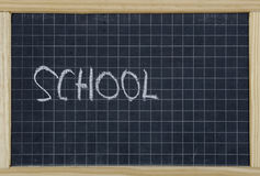 School, wrote on a chalkboard Stock Image