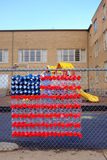 School Yard American Flag Royalty Free Stock Images