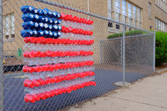 School Yard American Flag Royalty Free Stock Photography