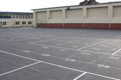 School yard. A simple school yard with numbering Royalty Free Stock Photos