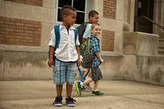 School Yard Walk Royalty Free Stock Images