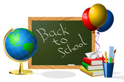 School year beginning. Concept illustration Stock Images