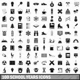 100 school years icons set, simple style. 100 school years icons set in simple style for any design vector illustration Stock Illustration