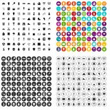 100 school years icons set vector variant. 100 school years icons set vector in 4 variant for any web design isolated on white Royalty Free Stock Photos