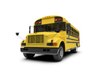 School yellow bus isolated over white Stock Images
