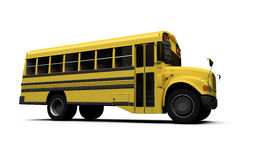 School yellow bus isolated over white Stock Image