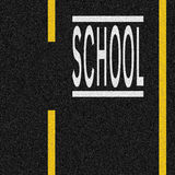 School Zone. Road markings Royalty Free Stock Images