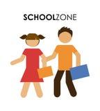 School zone design Stock Photography