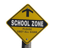 School Zone Sign Stock Images