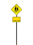 School zone sign Stock Photos