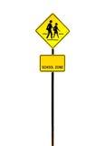 School zone sign Stock Photos
