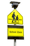 School zone signs. Isolated on white background Stock Images