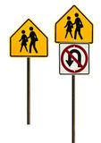 School Zone Signs Stock Photo