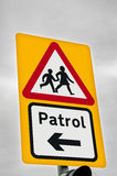 School Zone Traffic Sign Royalty Free Stock Photography