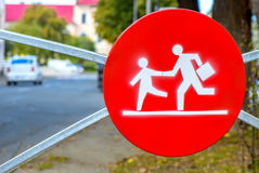School zone traffic sign Royalty Free Stock Image