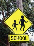 School Zone Warning Sign Royalty Free Stock Images
