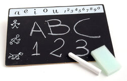 School2. Blackboard abc royalty free stock photo