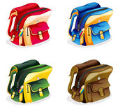Schoolbag. Illustration of school bags on a white background Stock Images