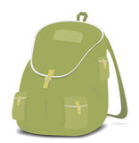 Schoolbag backpack on a white background Stock Images