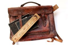 Schoolbag do vintage Imagens de Stock