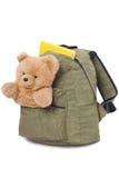 Schoolbag empacotado Imagem de Stock Royalty Free