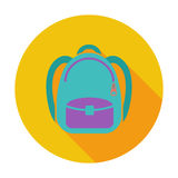 Schoolbag flat icon Royalty Free Stock Images