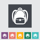 Schoolbag flat icon Stock Photography