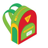 Schoolbag,  icon backpack Royalty Free Stock Photos