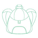Schoolbag,  icon backpack Stock Image