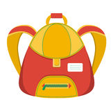 Schoolbag,  icon backpack Stock Photos