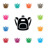 Schoolbag Icon. Satchel Vector Element Can Be Used For Haversack, Backpack, Bag Design Concept. Stock Image