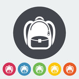 Schoolbag icon Stock Photo