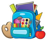 Schoolbag theme image 1 Royalty Free Stock Photo