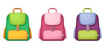 schoolbags Illustrazione di vettore Immagine Stock