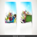 Schoolbanners vector illustratie