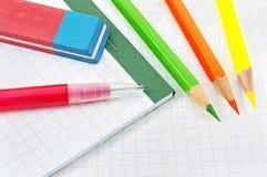 Schoolbehoeften voor kinderen Stock Foto