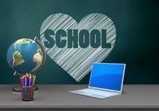 schoolboard 3d Imágenes de archivo libres de regalías