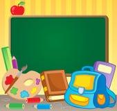 Schoolboard Themabild 1 Lizenzfreies Stockbild