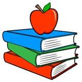 Schoolboeken met Apple stock illustratie