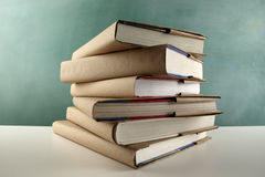 Schoolbooks stock image