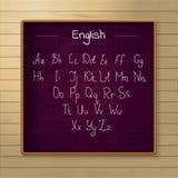 Schoolbord op de houten achtergrond Stock Afbeeldingen