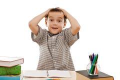 schoolboy αναστεναγμός Στοκ Φωτογραφία