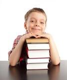 schoolboy βιβλίων Στοκ εικόνα με δικαίωμα ελεύθερης χρήσης