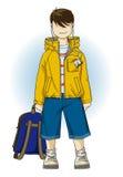 Schoolboy εφήβων παιχνίδι mp3s Στοκ φωτογραφία με δικαίωμα ελεύθερης χρήσης