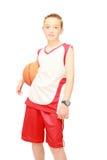 schoolboy καλαθοσφαίρισης αθλητικός τύπος Στοκ Φωτογραφία
